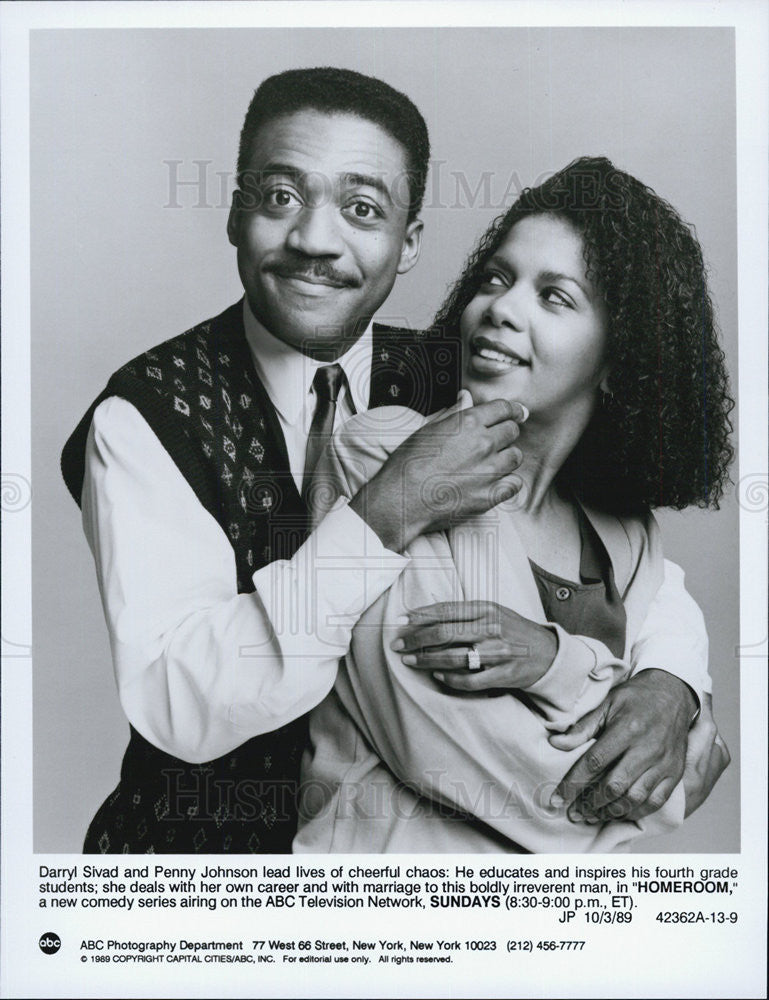 1989 Press Photo Darryl Sivad Penny Johnson Homeroom Comedy Television Series - Historic Images