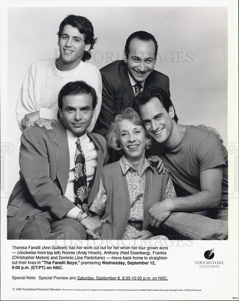 "1990 Press Photo The Cast of ""The Fanelli Boys"" - Historic Images"