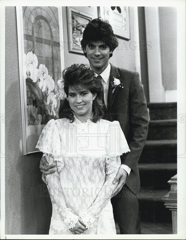 1987 Press Photo Nancy McKeon Actress Nick Corri Actor Facts Of Life Sitcom - Historic Images