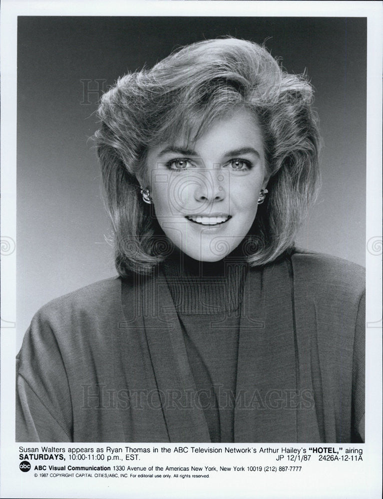 Susan Walters From Hotel Tv Show 1987 Vintage Promo Photo Print Historic Images Ga dawgs and la rams fan. 1987 press photo susan walters from hotel tv show