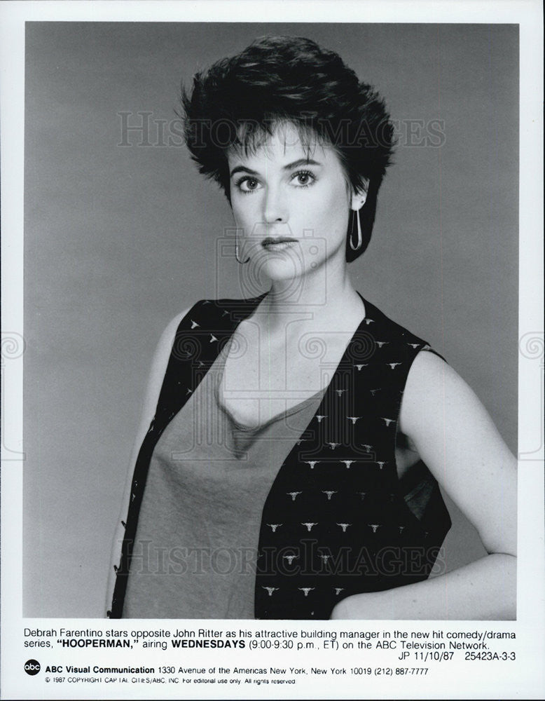1987 Press Photo Debrah Farentino Hooperman ABC Drama - Historic Images