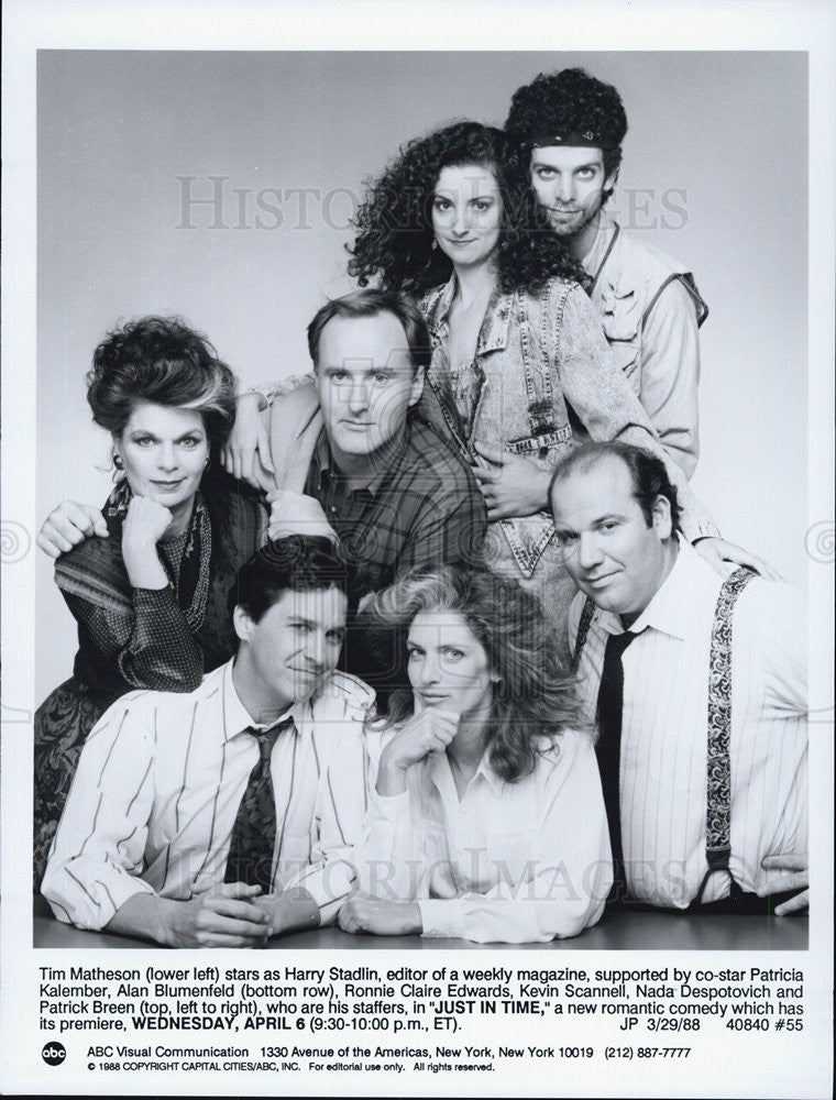 "1988 Press Photo  Tim Matheson Patricia Kalember Stars New Comedy ""Just In Time"" - Historic Images"