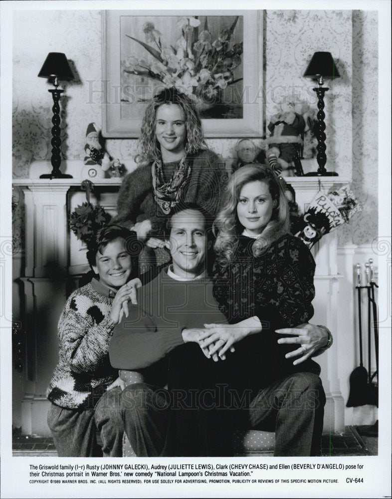 press photo cast of national lampoonss christmas vacation the griswold family historic images - Cast Of National Lampoon Christmas Vacation
