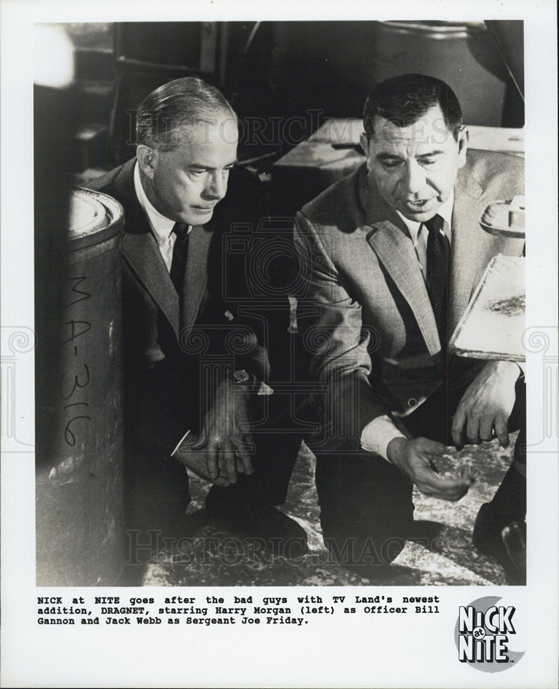 "1967 Press Photo Harry Morgan & Jack Webb in ""Dragnet"" - Historic Images"