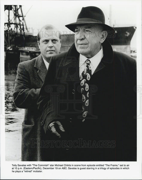 Press Photo Telly Savalas And Michael Chiklis Stars In ABC Show The Commish - Historic Images