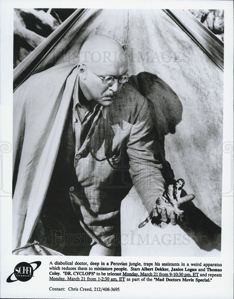 "1940 Press Photo Actor Albert Dekker Starring In ""Dr. Cyclops"" As Dr. Thorkel - Historic Images"