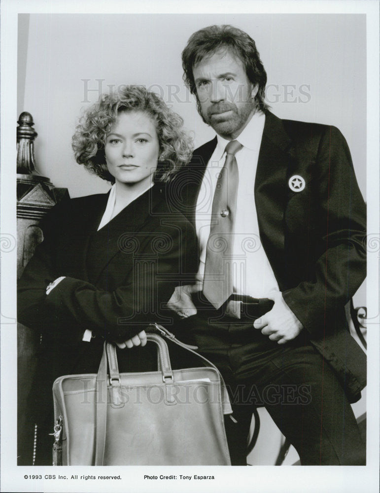 "1993 Press Photo Chuck Norris in ""Walker Texas Ranger"" - Historic Images"