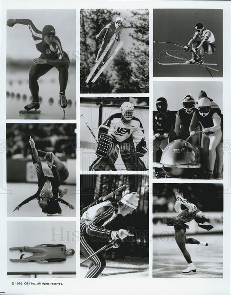 1992 Press Photo Olympic Winter Games - Historic Images