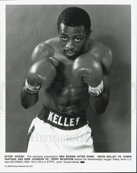 Press Photo Boxer Kevin Kelley - Historic Images