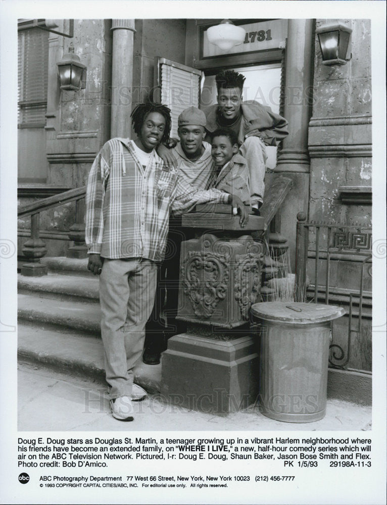 "1993 Press Photo  Cast Photo of ""Where I Live"" - Historic Images"