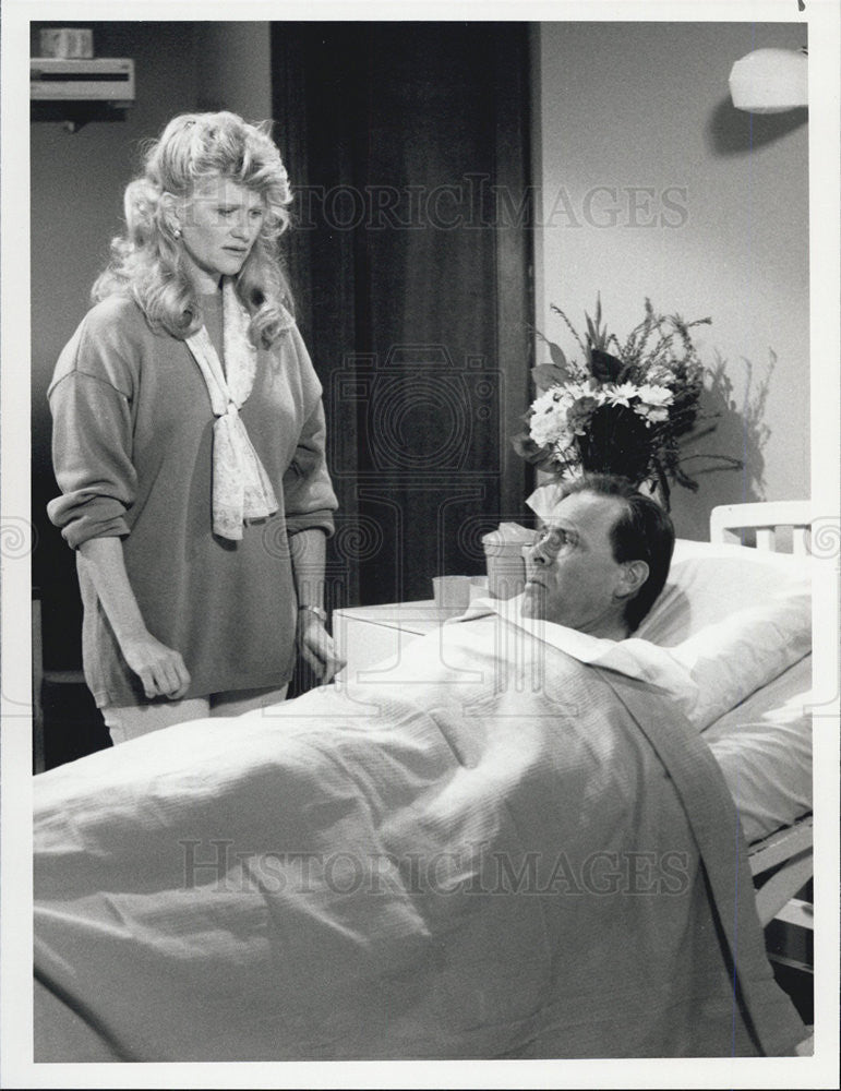 1990 Press Photo on set of Down Home starring Judith Ivey & Ray Baker - Historic Images
