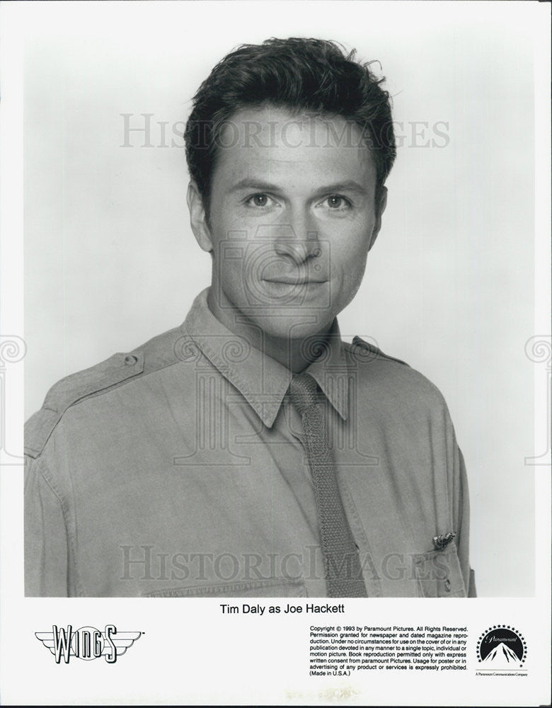 1993 Press Photo Wings Series Actor Tim Daly As Joe Hackett Character Portrait - Historic Images