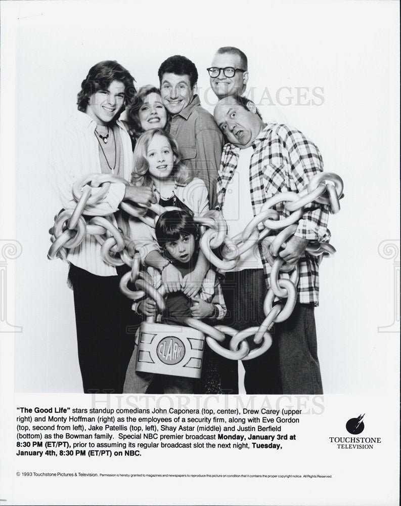 1993 Press Photo The Good Life Film Drew Carey Monty Hoffman Eve Gordon Cast - Historic Images
