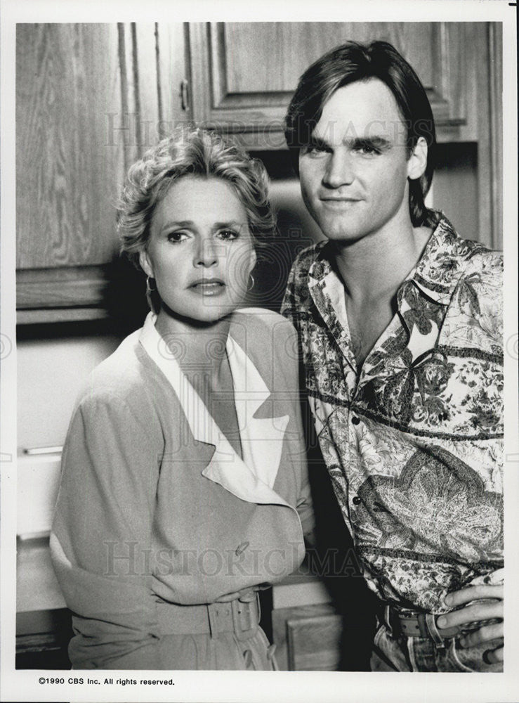 1990 Press Photo Sharon Gless And Doug Wert Star In The Trials Of Rosie O'Neill - Historic Images