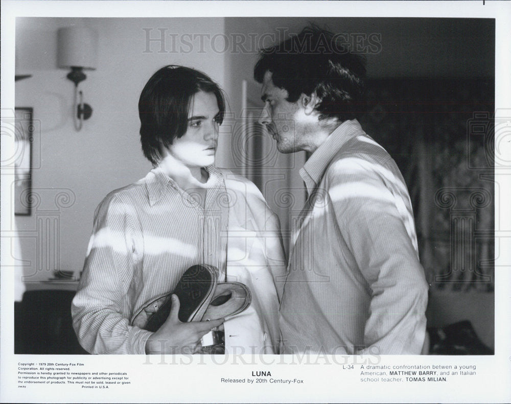 "1979 Press Photo Matthew Barry, Tomas Milain in ""Luna"" - Historic Images"
