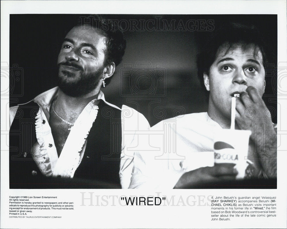 1989 Press Photo Actor Ray Sharkey and Michael Chiklis in Movie ...