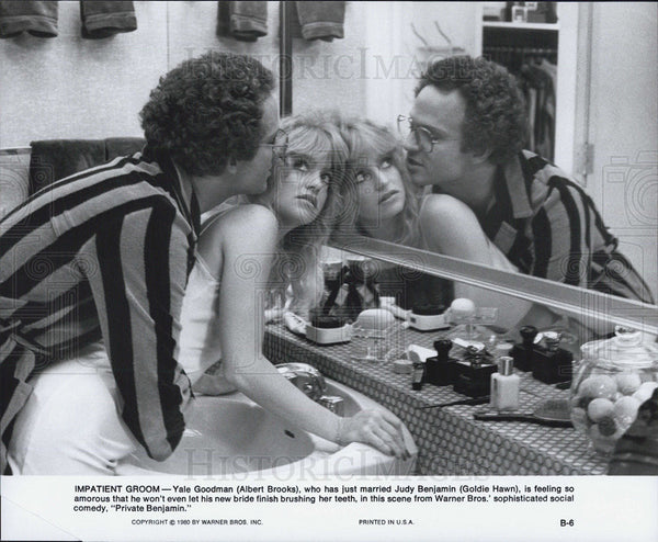 Press Photo Albert Brooks and Goldie Hawn in Private Benjamin - Historic Images