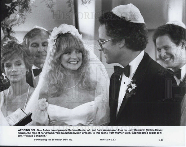 Press Photo Goldie Hawn and Albert Brooks in Private Benjamin - Historic Images