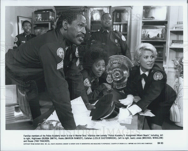Press Photo Bubba Smith and Marion Ramsey in Police Academy 5:  Assignment Miami - Historic Images