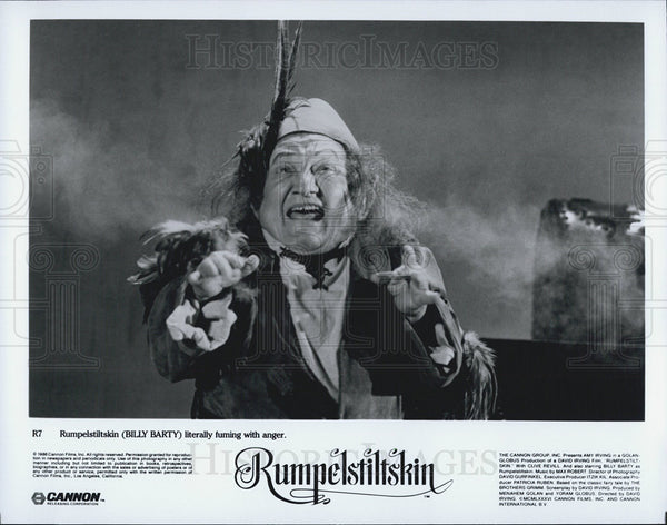1956 Press Photo Billy Barty as Rumpelstiltskin - Historic Images