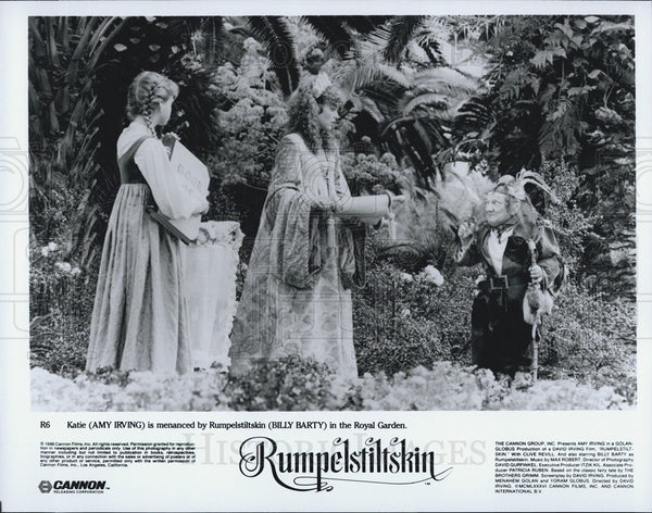 "1966 Press Photo Amy Irving & Billy Barty star in ""Rumpelstiltskin"" - Historic Images"