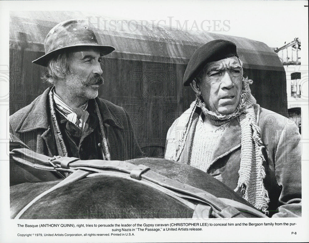 Anthony Quinn Christopher Lee In The Passage 1979 Vintage Promo