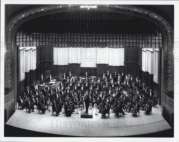 Press Photo An Orchestra playing - Historic Images