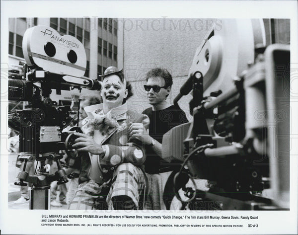 "1990 Press Photo Bill Murray & Howard Franklin in ""Quick Change"" - Historic Images"
