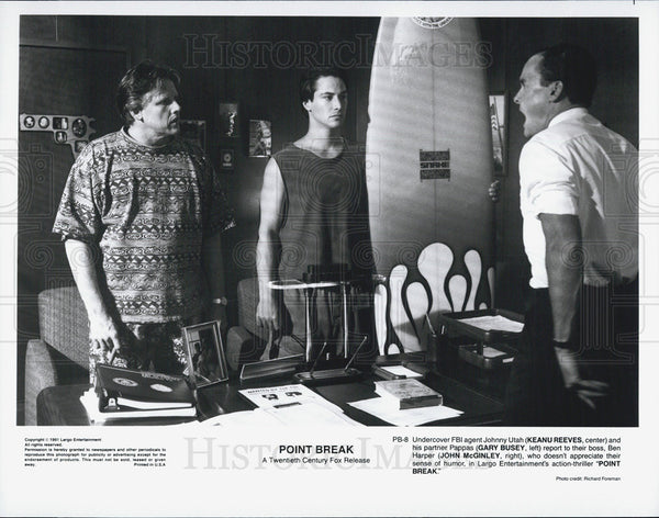 Press Photo Keanu Reeves in Point Break - Historic Images