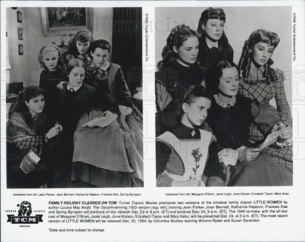 1933 Press Photo J Parker/J Bennett/Katherine Hepburn-Little Women-1949's Also - Historic Images