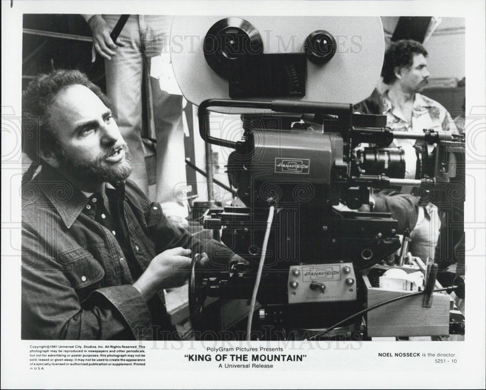 "1981 Press Photo Director Noel Nosseck on ""King of the Mountain"" - Historic Images"