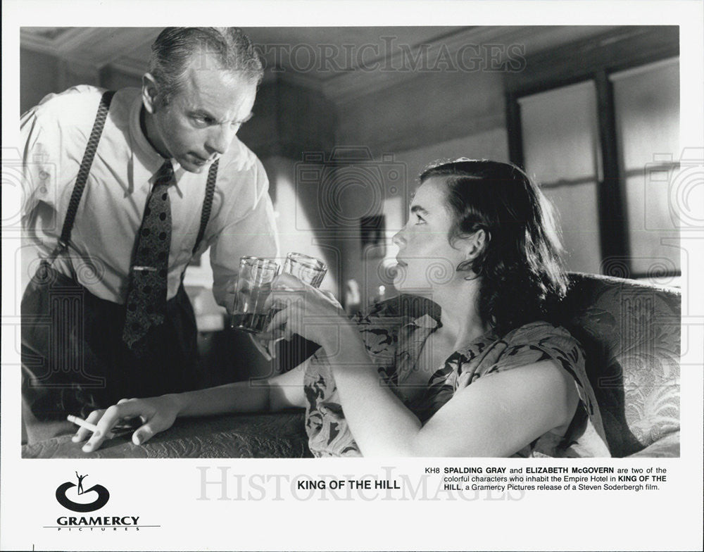 "1978 Press Photo Spalding Gray & Elizabeth McGovern in ""King of the Hill"" - Historic Images"