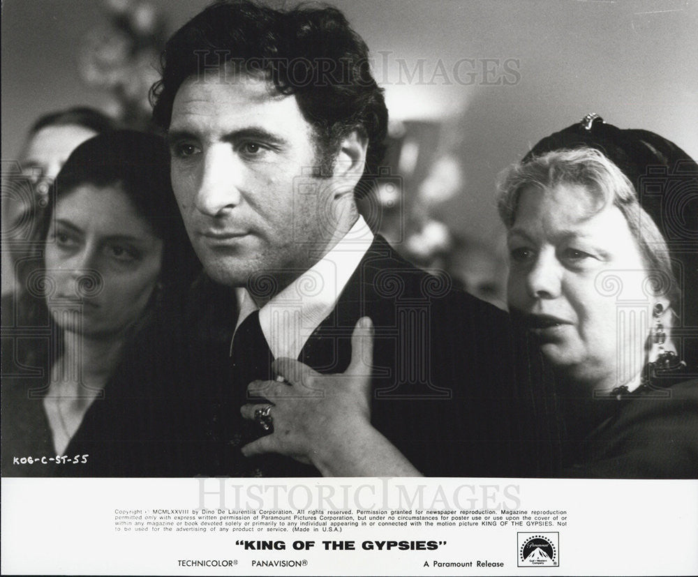 1978 Press Photo Susan Saradon/ Judd Hirsch/Shelley Winters-King Of the Gypsies - Historic Images