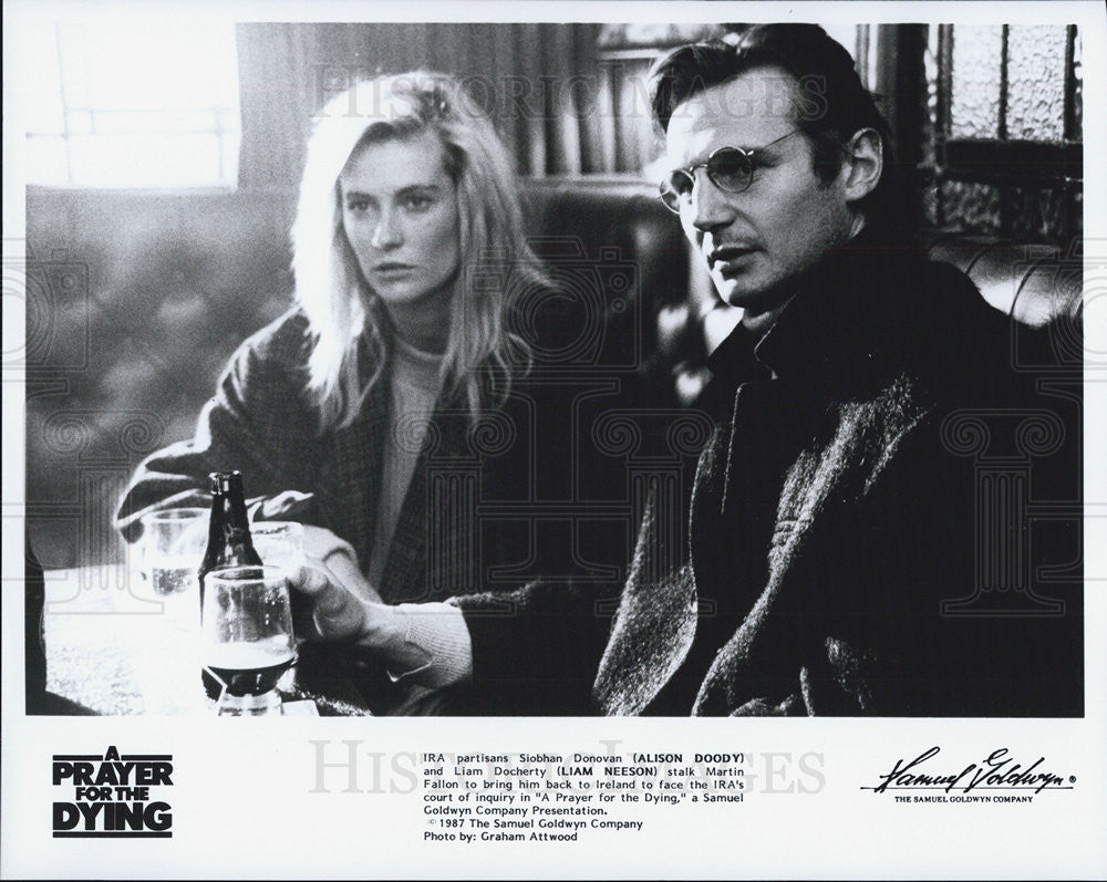 1987 Press Photo Alison Doody, Liam Neeson, Prayer for the Dying - Historic Images