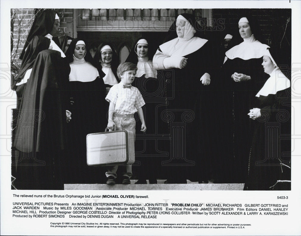 "1990 Press Photo Michael Oliver stars in ""Problem Child"" - Historic Images"