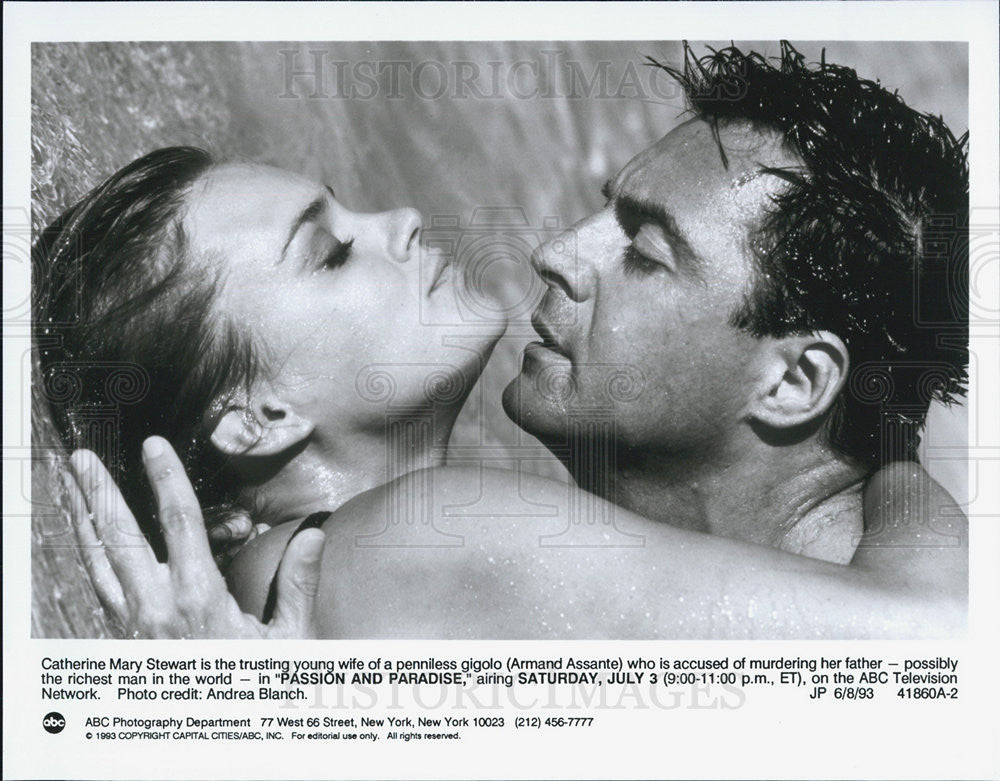1993 Press Photo Catherine May Stewart & Armand Assante in Passion and Paradise - Historic Images