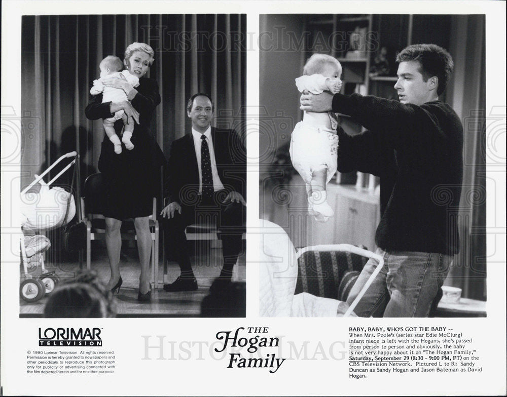 "1990 Press Photo ""The Hogan Family"" sandy Duncan,Jason Bateman - Historic Images"