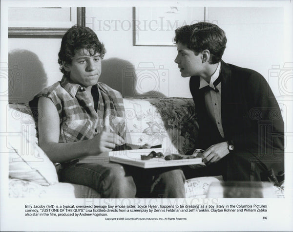 Press Photo Billy Jacoby and Clayton Rohner in Just One Of The Guys - Historic Images