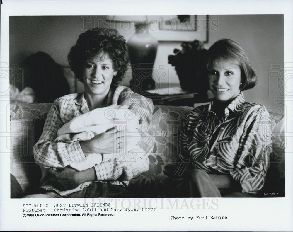 1986 Press Photo Christine Lahti Actress Mary Tyler Moore Just Between Friends - Historic Images