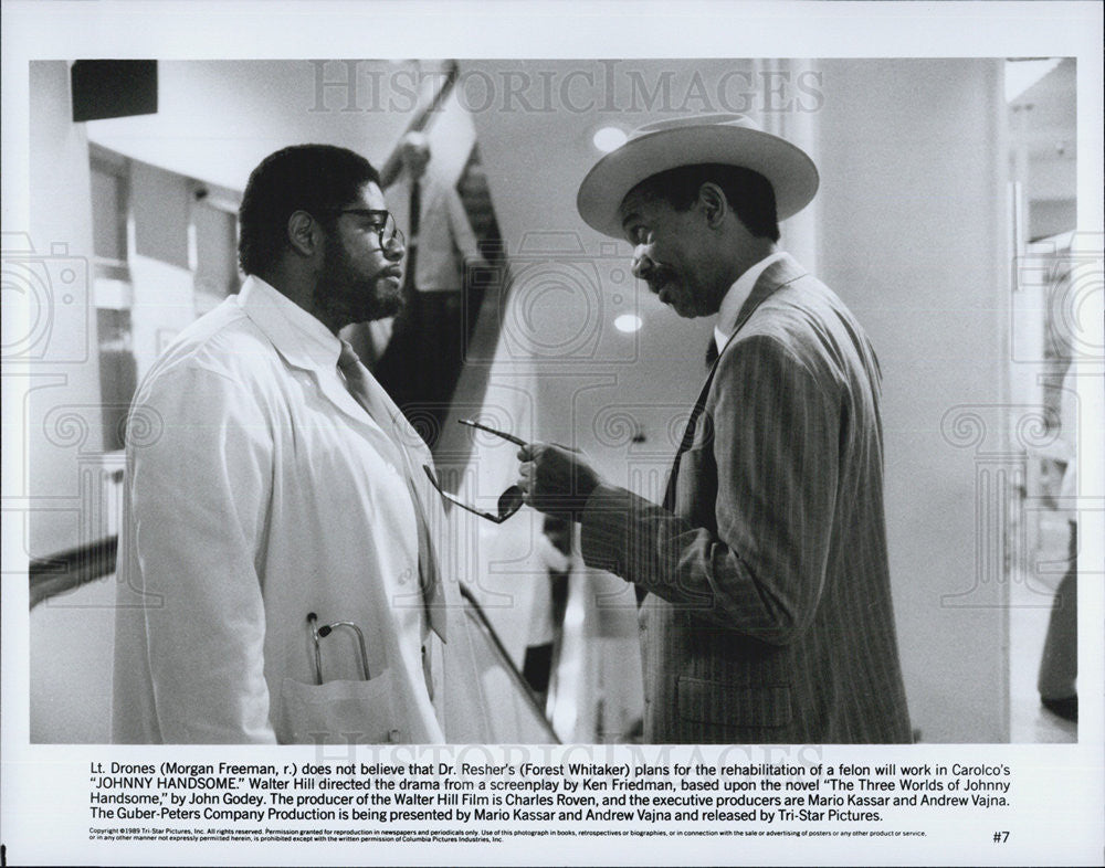 "1989 Press Photo Morgan Freeman in ""Johnny Handsome"" - Historic Images"