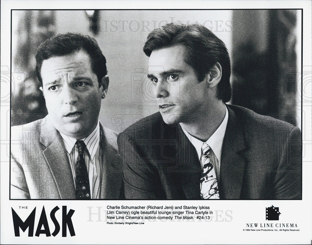 Press Photo Richard Jeni and Jim Carrey in The Mask - Historic Images