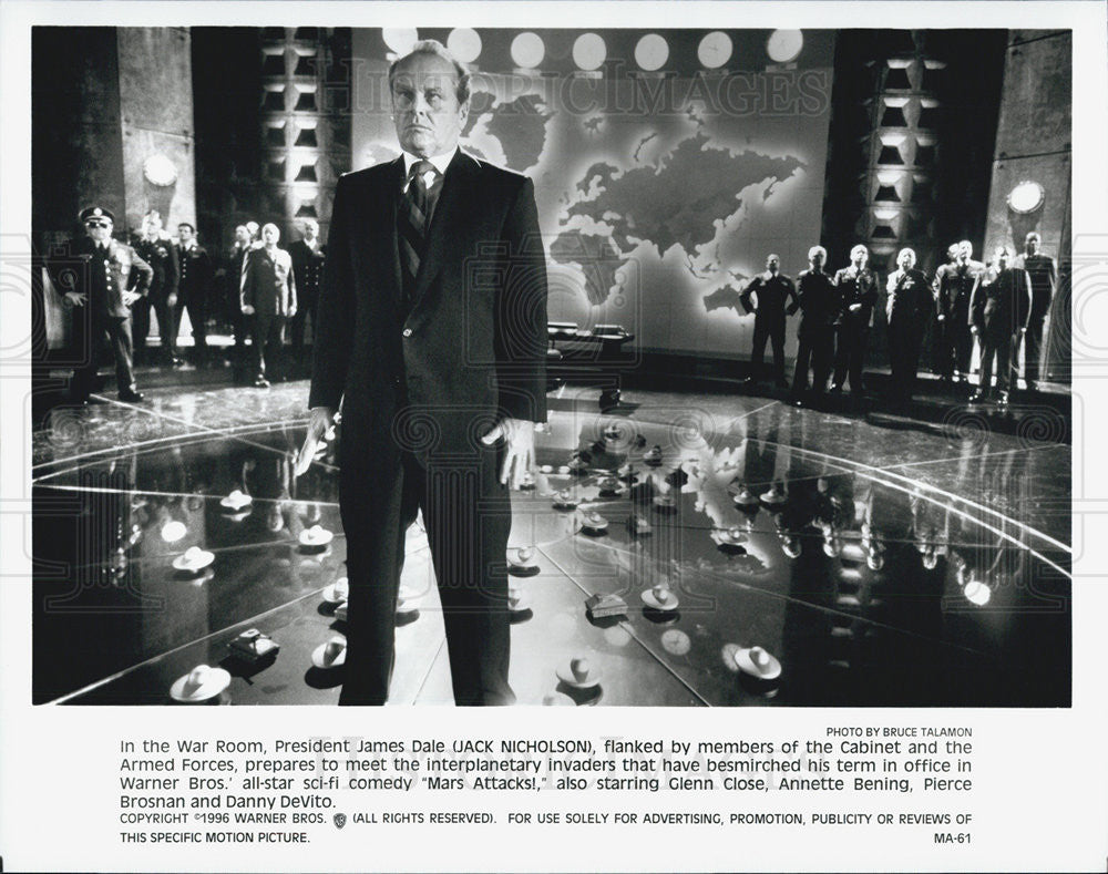 Press Photo Jack Nicholson in Mars Attacks! - Historic Images