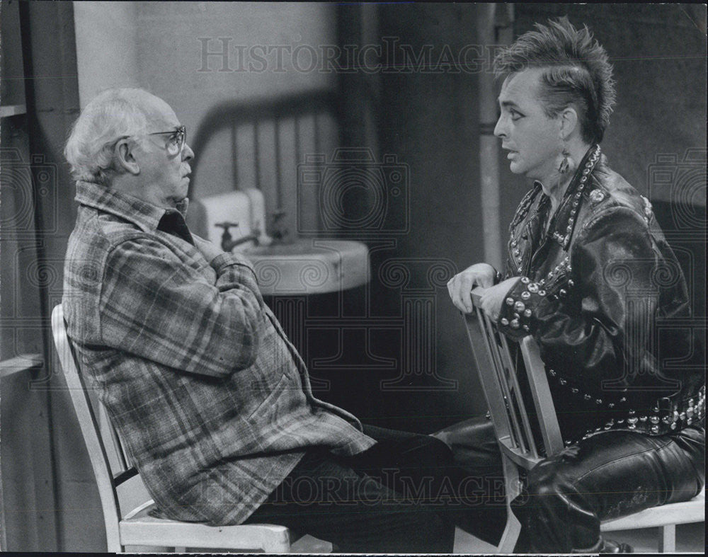 1986 Press Photo The Cavanaughs Barnard Hughes Ebbe Roe Smith CBS Television - Historic Images