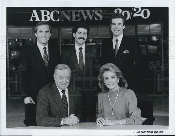 Press Photo Tom Jarriel, John Stossel, Bob Brown, Hugh Downs, Barbara Walters - Historic Images