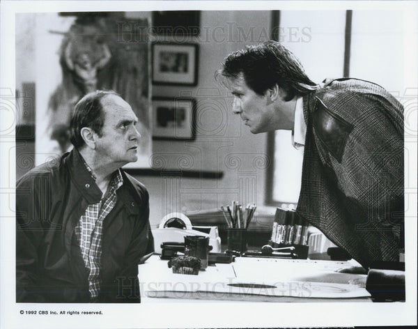 Press Photo Bob Newhart and John Cygan in BOB - Historic Images