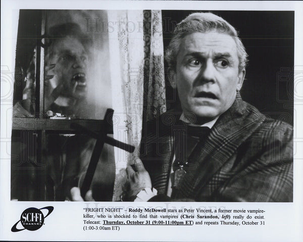 "1967 Press Photo ""Fright Night"" Roddy McDowell - Historic Images"
