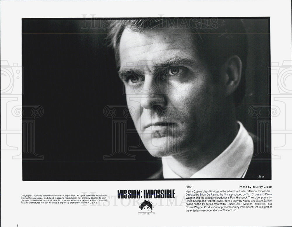 "1996 Press Photo Harry Czerny in ""Mission: Impossible"" - Historic Images"