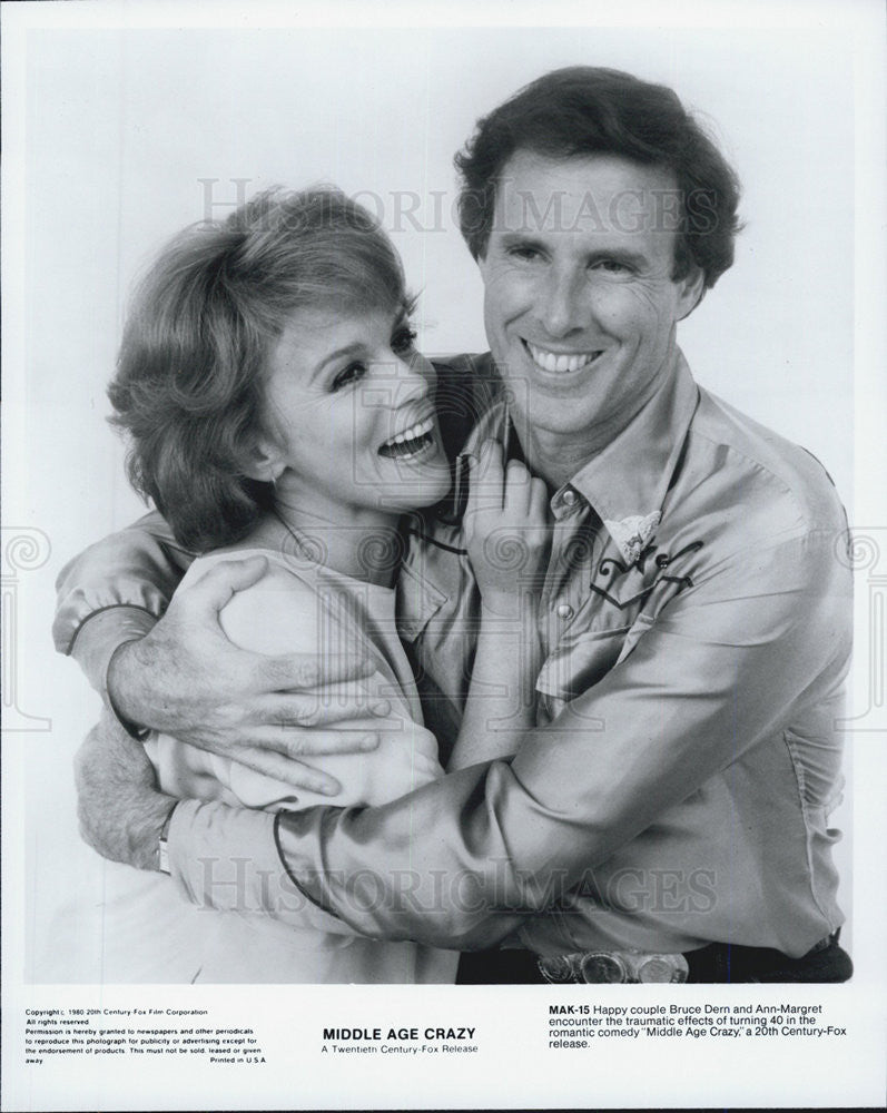 1980 Press Photo Middle Age Crazy Film Bruce Dern Ann-Margret - Historic Images