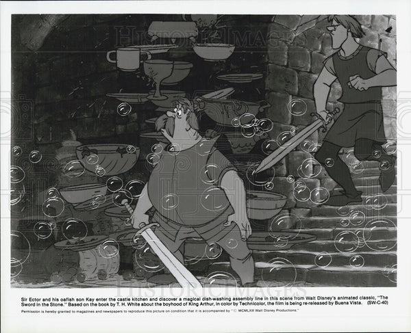 "1963 Press Photo Animated film ""The Sword in the Stone"" - Historic Images"