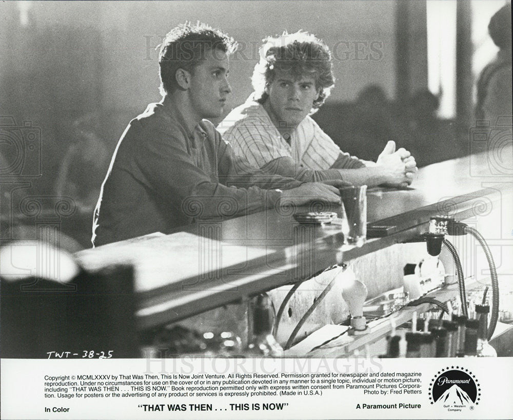 that was then this is now movie 1985 vintage promo photo print rh outlet historicimages com that was then this is now characters that was then this is now pdf